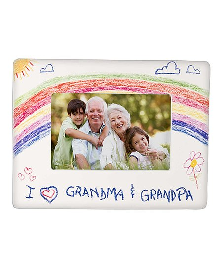 Ganz White I Love Grandma Grandpa Crayon Drawing Frame Zulily