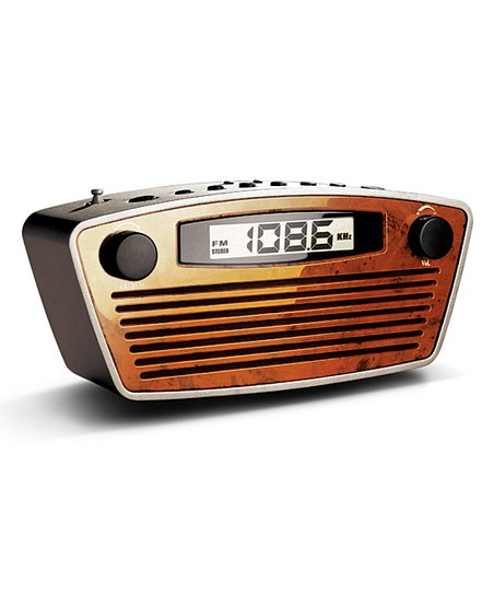 Bedol Retro Rectangle Clock Radio