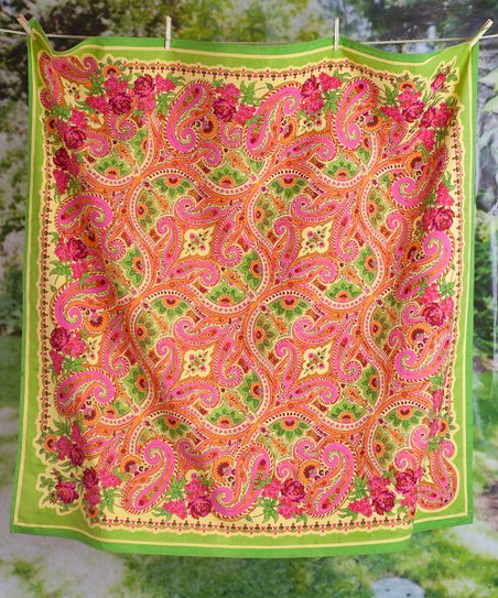 Raspberry Paris Paisley Tablecloth