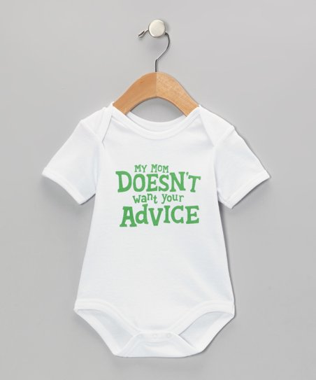 b79de048c945 Wild Child White   Green My Mom Doesn t Want Your Advice Bodysuit ...