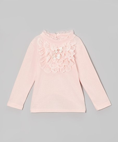 e7b7028c Dolce Liya Pink Lace-Collar Top - Infant, Toddler & Girls | Zulily
