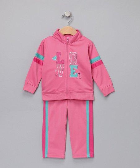 45159ec50 love this product Pink & Aqua Track Jacket & Pants - Infant