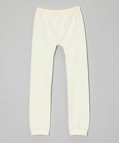 757d7c7daf16dd Chances R Girls Cream Fleece Leggings - Girls   Zulily