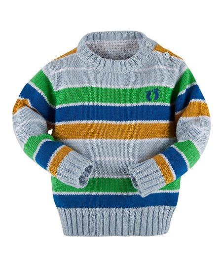 82c78864a498 Hang Ten Gold Light Blue Stripe Sweater - Infant