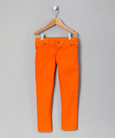 fashion styles united kingdom exquisite design Kids Can't Miss Orange Skinny Jeans - Toddler