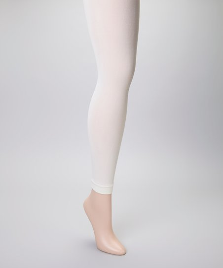 a0f11448152b9 Angel Hosiery Off-White Footless Tights - Plus | Zulily