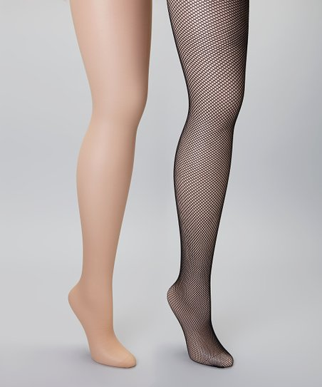 16cfb284d6c love this product Nude Sheer   Black Fishnet Tights Set