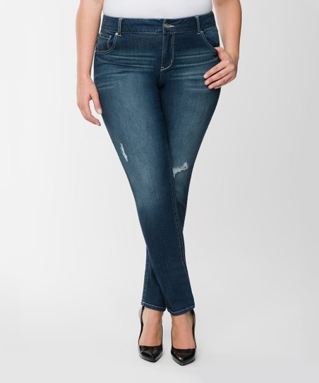 2ac044d97ac Lane Bryant Dark Sandblast Wave Pocket Skinny Jeans - Plus