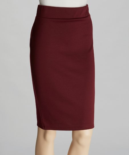 075953777 love this product Wine Pencil Skirt