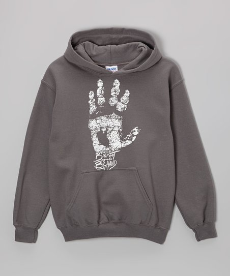 8111ed94bb Bigfoot   Friends Charcoal Bigfoot Handprint Hoodie - Boys