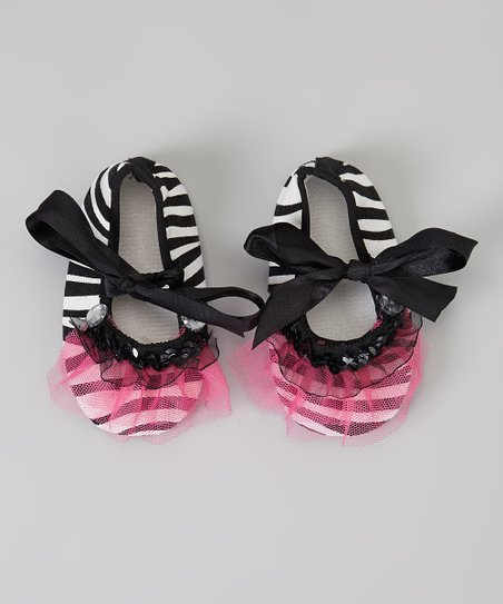 04dcdab4d Enchanted Couture Black   White Zebra Ruffle Booties