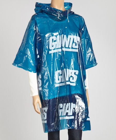 huge selection of c8d2e dcf38 Sterling Blue & White New York Giants Rain Poncho - Adults