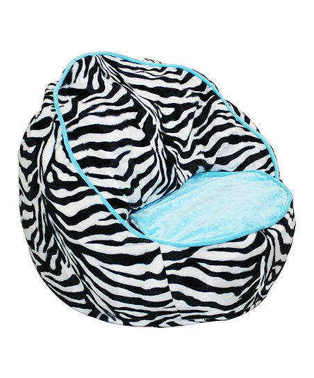 Awesome Newco Blue Zebra Beanbag Chair Pdpeps Interior Chair Design Pdpepsorg