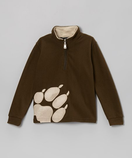 4df600ccea Brown Paw Print Fleece Pullover - Toddler   Boys