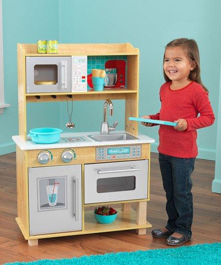 KidKraft Natural Toddler Kitchen Play Set
