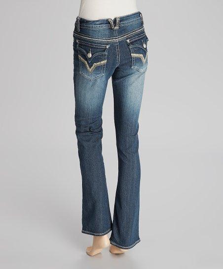 8086c005c7 Suko Jeans Dark Blue Slim Bootcut Jeans