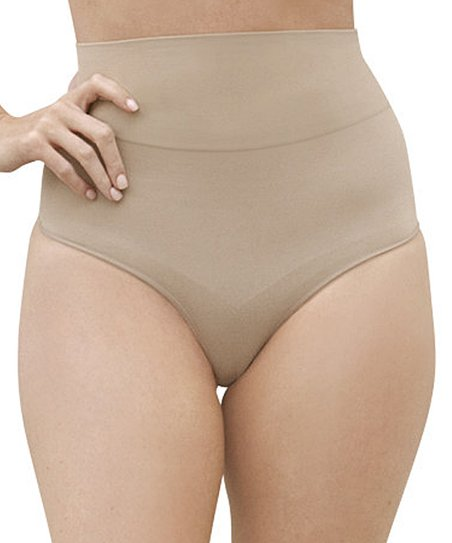 5209ee63f love this product Nude Léger Mid-Waist Shaper Briefs - Women