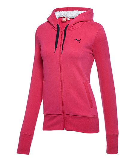 7be30f8373 PUMA Virtual Pink Core Sherpa Fleece Zip-Up Hoodie