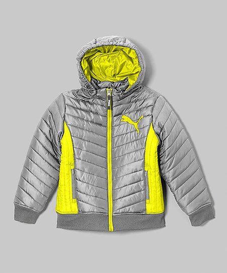 f0517fcff3b1 love this product Metallic Silver Quilted Hooded Puffer Jacket - Girls