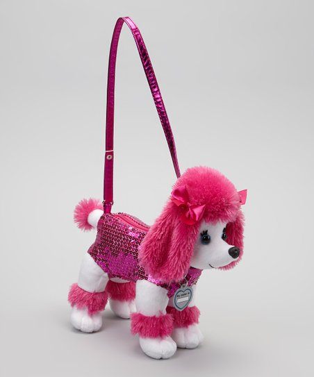 Fuchsia Checker Poodle Purse