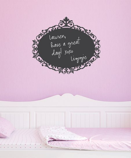 Sensational Wall Quotes By Belvedere Designs Curlicue Oval Chalkboard Download Free Architecture Designs Grimeyleaguecom