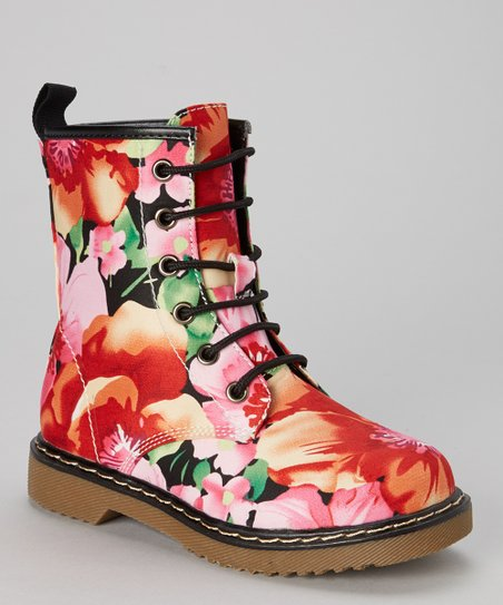 c44e71668 love this product Pink Floral Welma Combat Boot