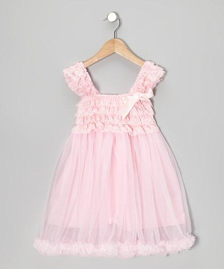 f90b87ea72393 Tutus by Tutu and Lulu Pink Ruffle Babydoll Dress - Toddler & Girls ...