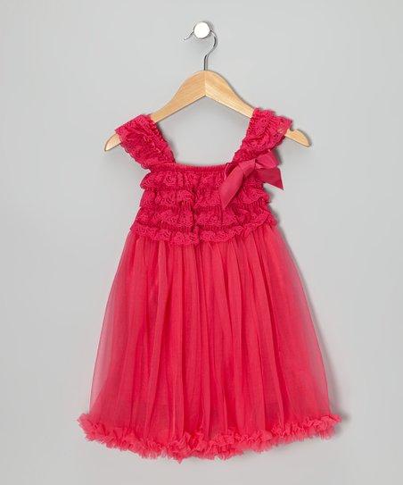 604a6b9b0196c Tutus by Tutu and Lulu Hot Pink Ruffle Babydoll Dress - Toddler   Zulily