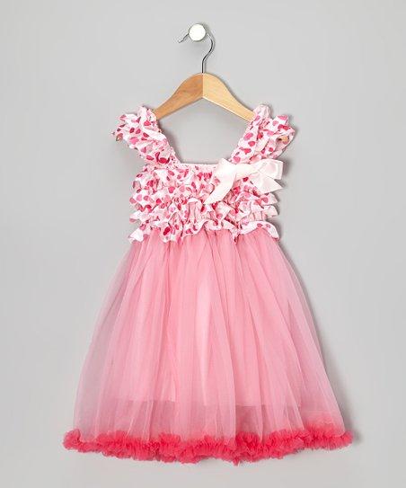 1c2304946ae42 Tutus by Tutu and Lulu Pink Hearts Ruffle Babydoll Dress - Toddler ...