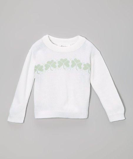 5c9c393dc ishopirish White   Green Shamrock Sweater - Infant   Toddler