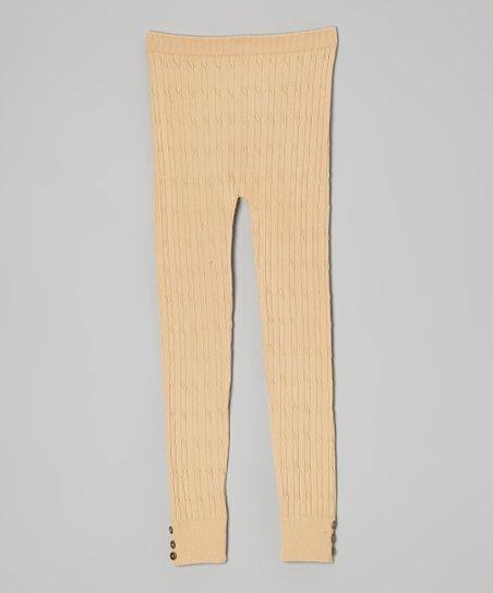 a709a55e5811c Dreamstar Tan Button Sweater Leggings - Toddler   Zulily