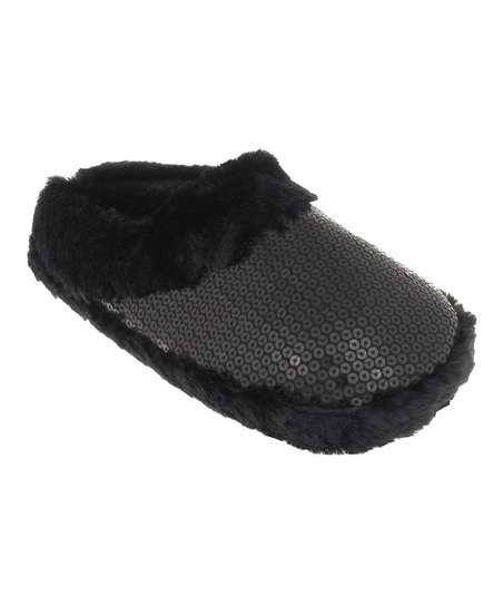 e52ee13f3da Capelli New York Black Sequin Slippers - Women