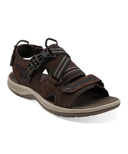 19fa49473e0c Clarks Dark Brown Suede Wave.Nomad Sports Sandal
