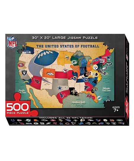 Ppw Toys Nfl Usa Map Puzzle Zulily - Us-map-nfl-teams