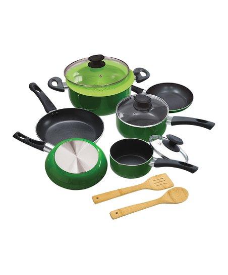 Ecolution Green 12 Piece Pots Pans Set Zulily