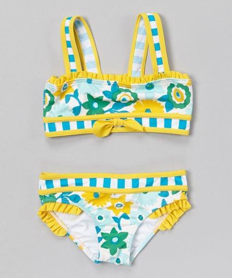 f4cee776fe Azul Swimwear Blue & Yellow Dear Daisy Bikini - Infant | Zulily