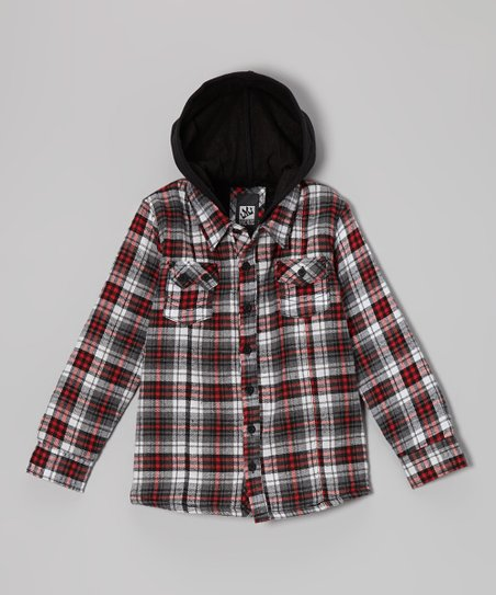 e243a2d85 Micros Red Sherpa Flannel Jacket - Toddler   Boys