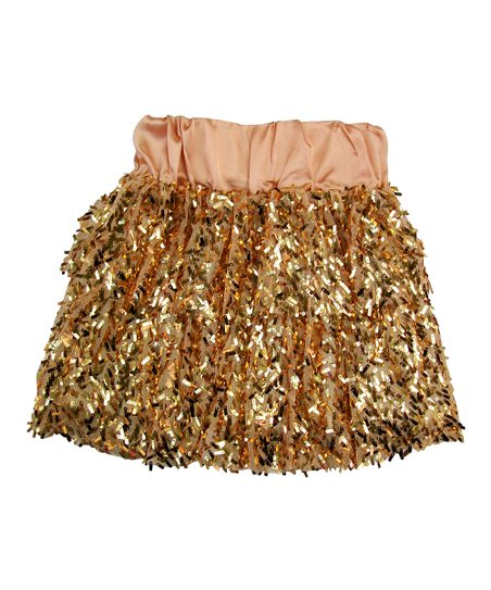4c4dba301a297 Mini Treasure Kids Gold Sequin Victoria Skirt - Toddler & Girls | Zulily