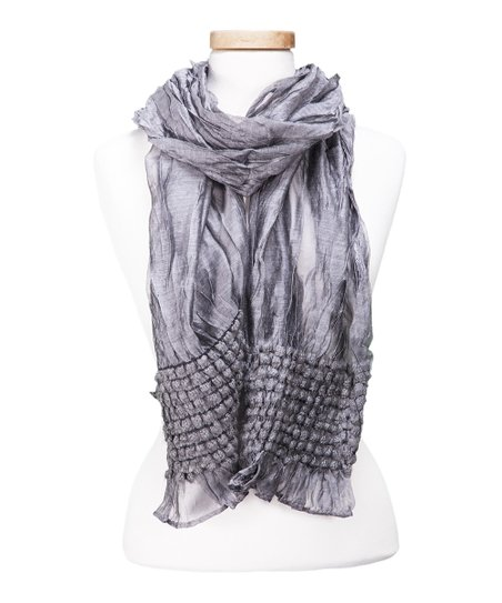 12e5411bc Tickled Pink Silver Sheer Textured Scarf | zulily