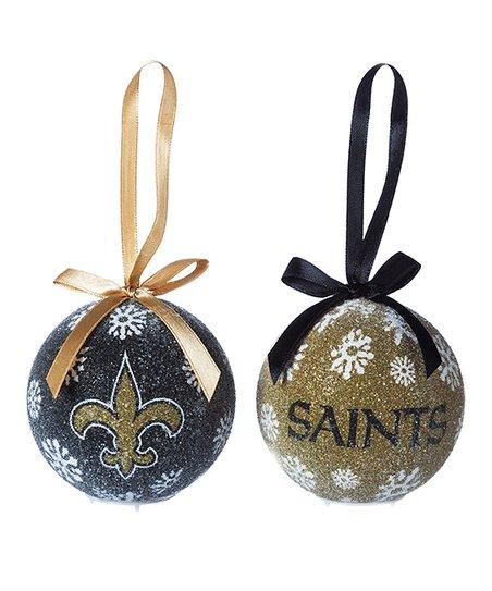 New Orleans Saints Christmas Ornaments.Evergreen New Orleans Saints Led Ornament Set Of Six