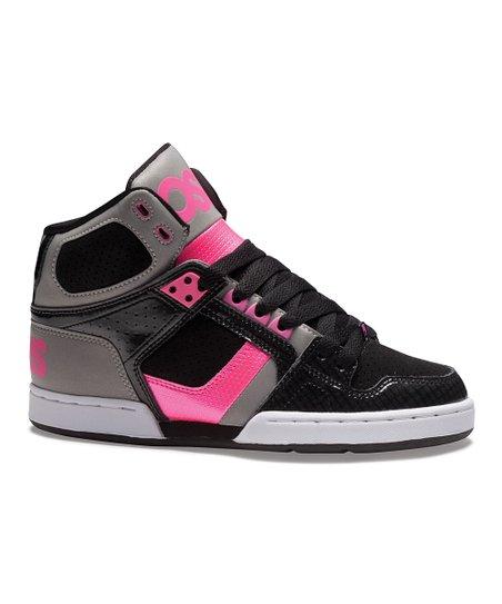 6527da16b0 Osiris Shoes Black & Pink NYC 83 Slim Hi-Top Sneaker - Women | Zulily