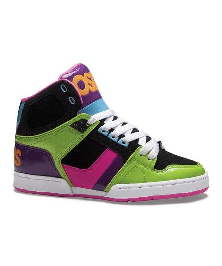 6a5da13f24 Osiris Shoes Green & Black NYC 83 Slim Hi-Top Sneaker - Women | Zulily