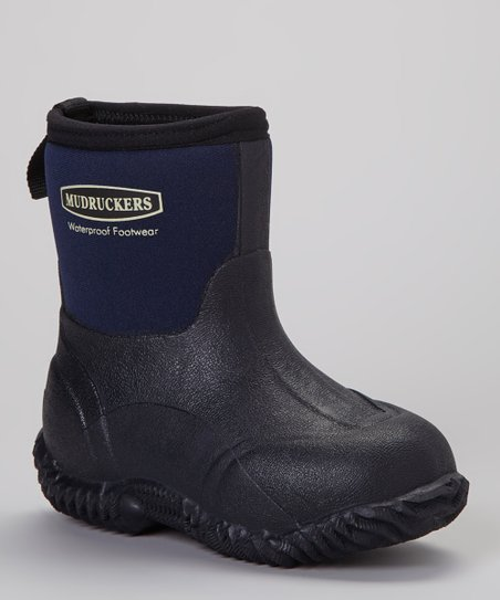 37202844e5fa love this product Navy   Black Waterproof Mid Boot - Kids