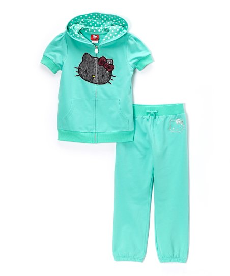 c5e8c949b love this product Cockatoo Hello Kitty Zip-Up Hoodie & Pants - Toddler &  Girls