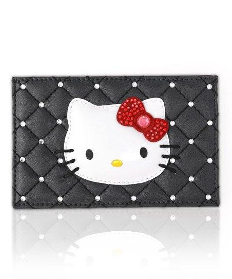 6105fe8c4 Swarovski® Crystal Black Hello Kitty Glamorous Card Holder | Zulily