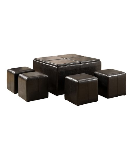 Marvelous Serendipity Espresso Storage Ottoman Nesting Cube Set Squirreltailoven Fun Painted Chair Ideas Images Squirreltailovenorg