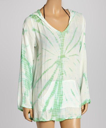 4b99aefb00 love this product Lime & White Tie-Dye Baja Hoodie - Women