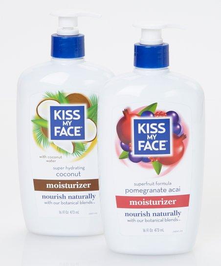 Kiss My Face Pomegranate & Coconut Moisturizing Lotion Set