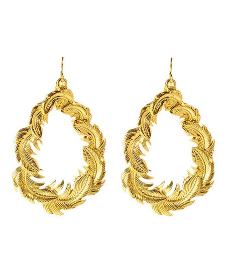 Amrita Singh Gold Leaf Earrings Zulily