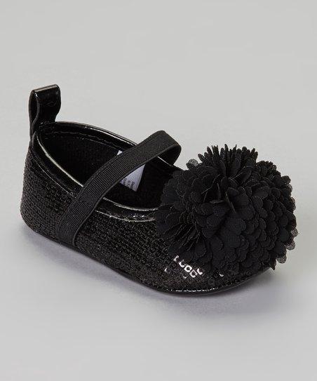 816c02ff4da4 Stepping Stones Black Sequin Flower Flat